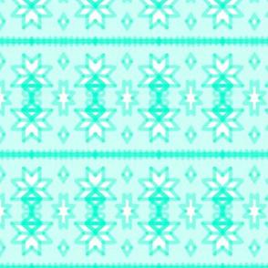 Nordic Snowflakes Winter Stripe