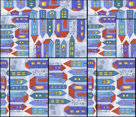 Color-block Houston fabric by studiosarcelle on Spoonflower - custom fabric