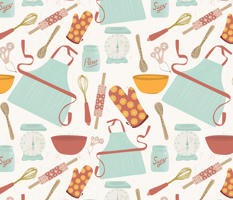 Vintage Kitchen Fabric Cool Decorating Ideas