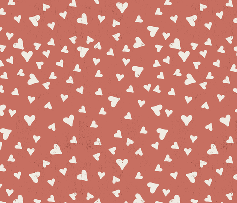 Vintage Hearts fabric by melarmstrongdesign on Spoonflower - custom fabric
