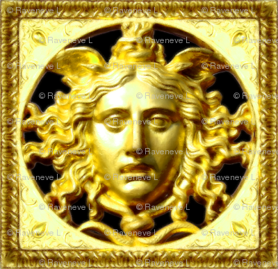 gold baroque rococo Versace inspired medusa inspired gorgons Greek Greece Mythology monsters