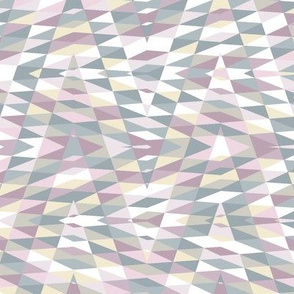 patchwork arrow - lilac, mauve, cream and grey