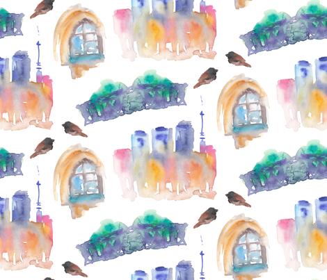 Little city fabric by artishark on Spoonflower - custom fabric