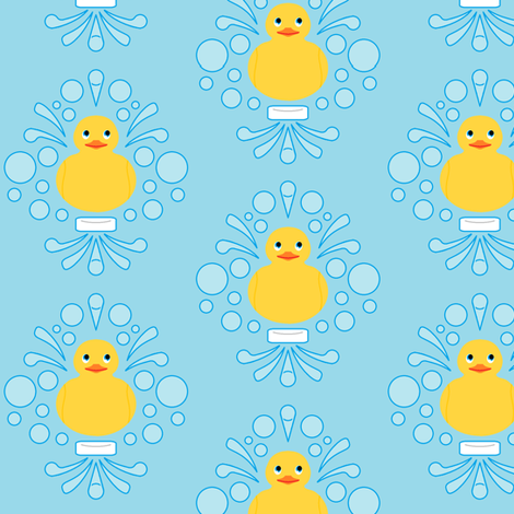 Damask Rubber Duck #1 fabric by nerdmeup on Spoonflower - custom fabric