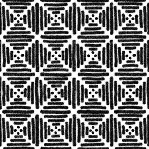 Black + white line diamonds by Su_G