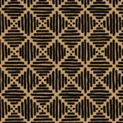 Black + butterscotch line diamonds by Su_G