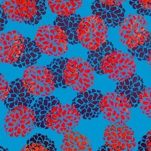 Blue and Red Pinecone