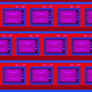 TV Stripe /Red