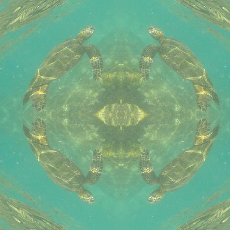 sea turtles, puako fabric by hypersphere on Spoonflower - custom fabric