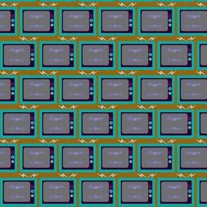 TV Stripe /Retro Green