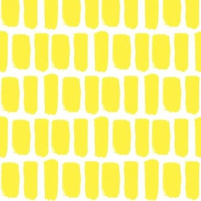 Broad Brush Strokes in Yellow