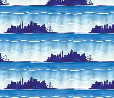 San Francisco Blues fabric by ed_designs on Spoonflower - custom fabric