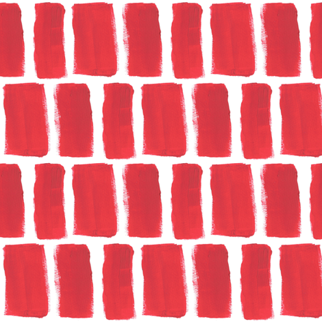 Broad Brush Strokes in Red fabric by anniedeb on Spoonflower - custom fabric