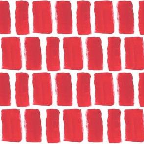Broad Brush Strokes in Red