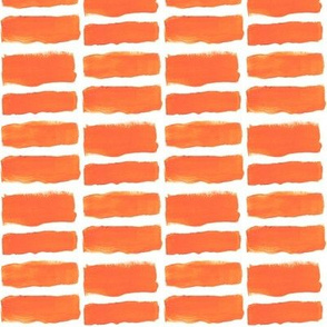 Broad Brush Strokes in Orange