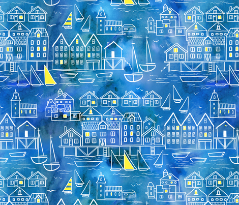 norden_city fabric by torysevas on Spoonflower - custom fabric