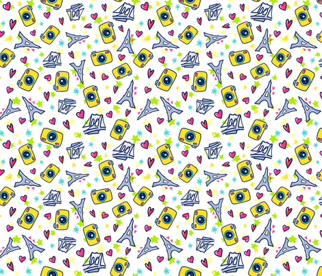 Paris Doodle fabric by ihavepurplehair on Spoonflower - custom fabric