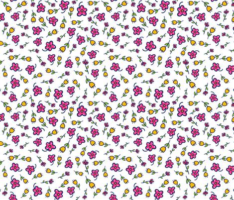 Spring Flowers Doodle fabric by ihavepurplehair on Spoonflower - custom fabric