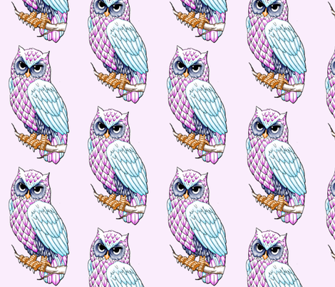 Owl fabric by infiknit_fabrics on Spoonflower - custom fabric
