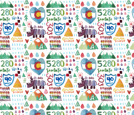 Denver's Art Disctricts fabric by the_sunny_side_up_studio on Spoonflower - custom fabric
