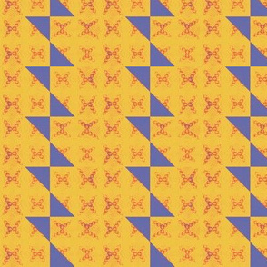 yellow stripe and blue bowtie