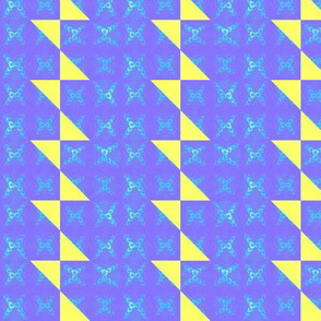 Caribbean blue stripe and yellow bowtie