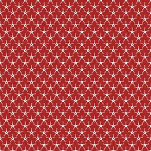 Barn Dance - White Star on Red