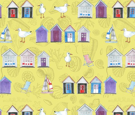 Rrrbeach_huts_watercolour_2_300dpi_sand_with_shells_shop_preview
