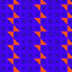 Blue Stripe Red Tie