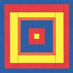 Quilt Block in Acrylics