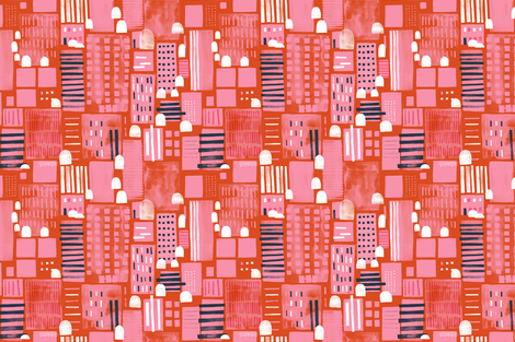 City Life by Friztin fabric by friztin on Spoonflower - custom fabric