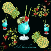 Blue Hawaii Cocktails or uliuli kona hawaii
