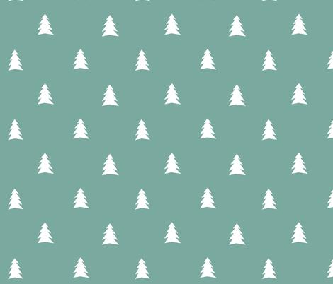 Trees green fabric by studiojelien on Spoonflower - custom fabric