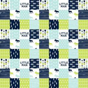 "2"" small scale -  Bear Creek Patchwork Quilt Top 