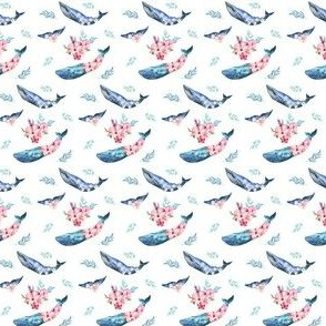 "1.5"" Summer Floral Whales"