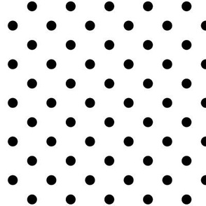 True Black Polka Dots Dotted