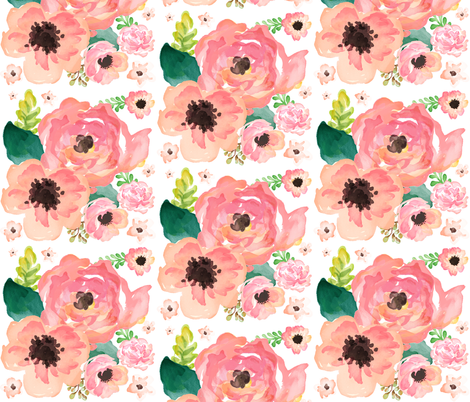 """14"""" FLORAL DREAMS EXTRA LARGE  / LIGHT WASH fabric by shopcabin on Spoonflower - custom fabric"""
