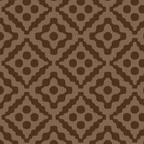 tribal diamonds - chocolate brown
