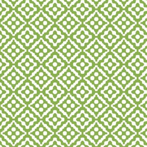 small tribal diamonds in fresh green