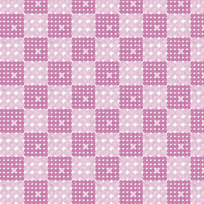 Dots and squares pink