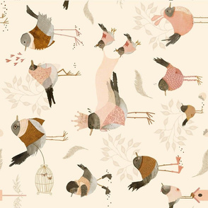 Avian royality tea towel