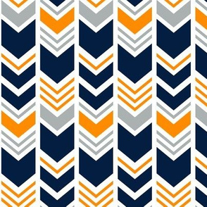 Great Outdoors Chevron // Navy,grey,orange