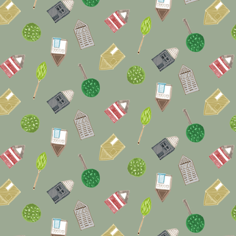 Brunswick_Houses fabric by samantha_w on Spoonflower - custom fabric