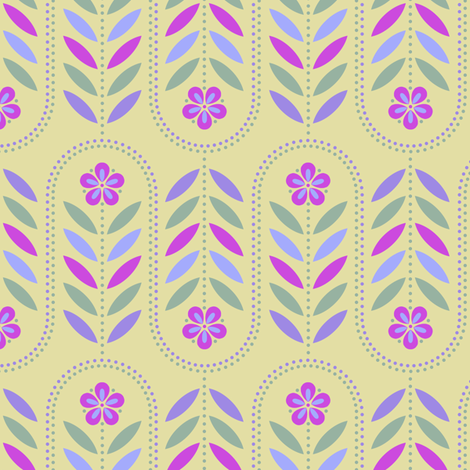 Carnival Flower Wave - Straw A fabric by siya on Spoonflower - custom fabric