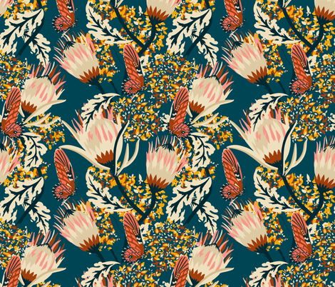 BOHEME_BUTTERFLY_MARINE fabric by holli_zollinger on Spoonflower - custom fabric