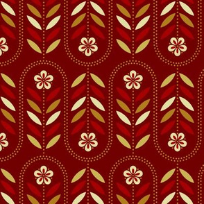 Carnival Flower Wave - Maroon