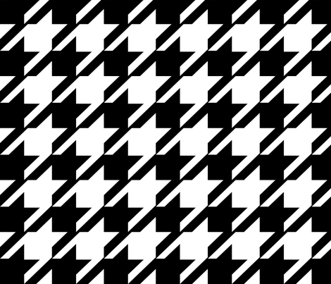 Hounds Tooth  Modern Black & White  - Med / Large   fabric by franbail on Spoonflower - custom fabric