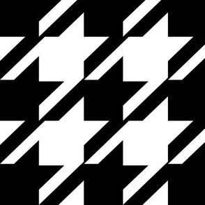 Hounds Tooth  Modern Black & White  - Med / Large