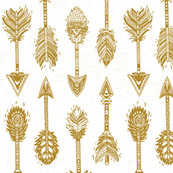 Gold indian arrows