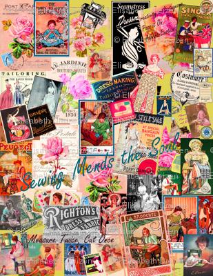 Sewing  Memories, Multi colored pastiche